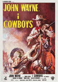 "Movie Posters:Western, The Cowboys (Warner Brothers, 1972). Italian 4 - Foglio (55"" X 79"").. ..."