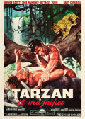 "Movie Posters:Adventure, Tarzan the Magnificent (Paramount, 1960). Italian 4 - Foglio (55"" X78"").. ..."