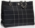 Luxury Accessories:Bags, Chanel Navy Blue Quilted Shoulder Bag with Silver Hardware. ...