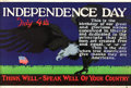 "Movie Posters:Miscellaneous, Independence Day (Mather and Company, 1923). Motivational Poster (28"" X 41.5"").. ..."