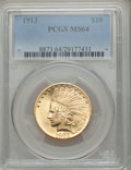 Indian Eagles, 1913 $10 MS64 PCGS....