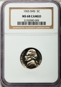 SMS Jefferson Nickels, 1965 5C SMS MS68 Cameo NGC....