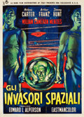 "Movie Posters:Science Fiction, Invaders from Mars (Rank-RKO, 1958). Italian 2 - Foglio (39.5"" X55"").. ..."