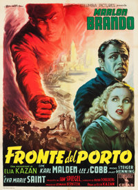 "On the Waterfront (Columbia, 1954). Italian 2 - Foglio (39"" X 54"")"