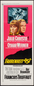 "Movie Posters:Science Fiction, Fahrenheit 451 (Universal, 1967). Insert (14"" X 36""). ScienceFiction.. ..."
