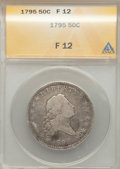 Early Half Dollars, 1795/1795 50C Two Leaves Fine 12 ANACS. O-112, R.4....