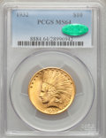Indian Eagles, 1932 $10 MS64 PCGS. CAC....