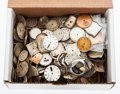 Timepieces:Other , Lots & Lots Of Wristwatch Dials & Cases. ...