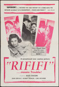"""Movie Posters:Foreign, Rififi (UMPO, 1956). One Sheet (27"""" X 41""""). Foreign.. ..."""