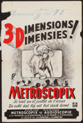 "Movie Posters:Short Subject, The New Audioscopiks (MGM, 1950s). Belgian (14"" X 21.25"") 3-DStyle. Short Subject. Belgian Title: Metroscopix.. ..."