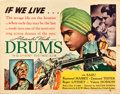 """Movie Posters:Adventure, Drums (United Artists, 1938). Half Sheet (22"""" X 28"""").. ..."""