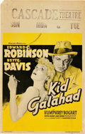 "Movie Posters:Crime, Kid Galahad (Warner Brothers, 1937). Window Card (14"" X 22"").. ..."