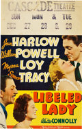 """Movie Posters:Comedy, Libeled Lady (MGM, 1936). Window Card (14"""" X 22""""). Comedy.. ..."""
