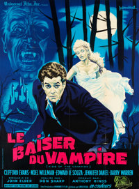 "Kiss of the Vampire (Universal International, 1963). French Grande (46"" X 62.5"")"