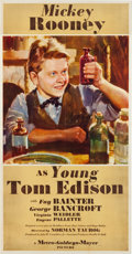 "Movie Posters:Drama, Young Tom Edison (MGM, 1940). Three Sheet (41"" X 80.75"") Style B....."
