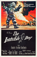 """Movie Posters:Science Fiction, The Invisible Boy (MGM, 1957). One Sheet (27"""" X 41"""").. ..."""