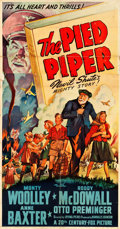 "Movie Posters:Drama, The Pied Piper (20th Century Fox, 1942). Three Sheet (40.5"" X77.5"").. ..."