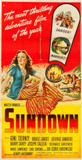 "Movie Posters:War, Sundown (United Artists, 1941). Three Sheet (40.5"" X 79"").. ..."