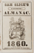 Books:Americana & American History, Sam Slick's Comic Almanac, 1860. New York: Philip J. Cozans.Octavo. Illustrations throughout. Removed from larger volume. L...