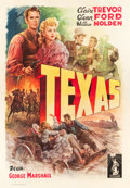 "Movie Posters:Western, Texas (Columbia, 1947). First Post-War Release Italian 4 - Foglio(55"" X 78"").. ..."