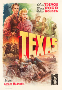"Texas (Columbia, 1947). First Post-War Release Italian 4 - Foglio (55"" X 78"")"