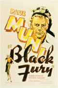"""Movie Posters:Crime, Black Fury (First National, 1935). One Sheet (27"""" X 41"""").. ..."""