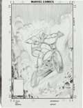 Original Comic Art:Miscellaneous, Mike Ploog Ghost Rider Cover Pencil Preliminary SketchOriginal Art (undated)....