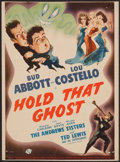 """Movie Posters:Comedy, Hold That Ghost (Universal, 1941). Trimmed Midget Window Card (8"""" X10.75""""). Comedy.. ..."""