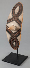 Tribal Art, Tutsi (probably Rwanda or Burundi, Eastern Africa). Ceremonialshield. Wood and pigment. Height: 13-1/2 inches. ...