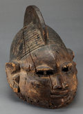 Tribal Art, Yoruba (Nigeria or Benin, Western Africa). Mask for Geledeassociation. Wood. Height: 12 inches. ...