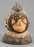 Tribal Art, Mossi (Burkina Faso, Western Africa). Cap mask. Wood and pigment.Height: 8-3/4 inches. ...