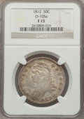 Bust Half Dollars, 1812 50C Fine 15 NGC. O-105a. NGC Census: (19/807). PCGS Population(23/972). Mintage: 1,628,059. Numismedia Wsl. Price fo...