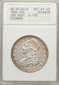 Bust Half Dollars: , 1836 50C Lettered Edge -- Cleaned -- ANACS. AU Details Net XF40.O-105. NGC Census: (93/1088). PCGS Population (170/1079)....