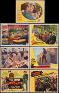 """Movie Posters:Western, Down Mexico Way & Others Lot (Republic, 1941). Lobby Cards (6) & Title Lobby Card (11"""" X 14""""). Western.. ... (Total: 7 Items)"""