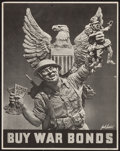"Movie Posters:War, World War II Propaganda (U.S. Government Printing Office, 1942).Poster (13"" X 16.5"") ""Buy War Bonds."" War.. ..."