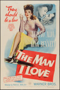 """Movie Posters:Crime, The Man I Love (Warner Brothers, 1947). One Sheet (27"""" X 41"""").Crime.. ..."""