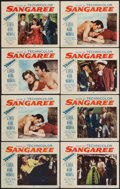 "Movie Posters:Adventure, Sangaree (Paramount, 1953). Lobby Card Set of 8 (11"" X 14"") 3-DStyle. Adventure.. ... (Total: 8 Items)"
