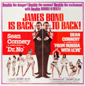 """Movie Posters:James Bond, Dr. No/From Russia with Love Combo (United Artists, R-1965). Six Sheet (80"""" X 81"""").. ..."""