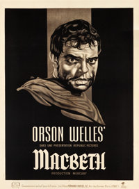 "Macbeth (Republic, 1950). French Grande (46.5"" X 63"")"