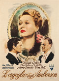 "Movie Posters:Drama, The Magnificent Ambersons (RKO, Late 1940s). First Post-War Italian2 - Foglio (39"" X 55"").. ..."