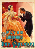 "Movie Posters:Swashbuckler, The Adventures of Don Juan (Warner Brothers, 1956). Italian 2 -Foglio (39.25"" X 55"").. ..."
