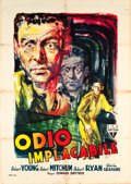 "Movie Posters:Film Noir, Crossfire (RKO, 1947). Italian 2 - Foglio (39"" X 55"").. ..."