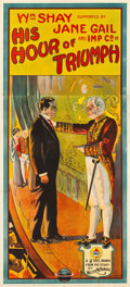 "Movie Posters:Drama, His Hour of Triumph (Universal, 1913). Three Sheet (40"" X 88.5"")....."