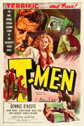 "Movie Posters:Film Noir, T-Men (Eagle Lion, 1947). One Sheet (27.25"" X 41"").. ..."