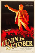 """Movie Posters:Drama, Lenin in October (Amkino Corporation, 1937). One Sheet (27.25"""" X40.5"""").. ..."""