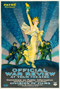 "Movie Posters:War, Official War Review (Pathé, 1918). World War I Poster (27.25"" X40.5"").. ..."