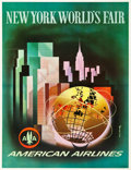"""Movie Posters:Miscellaneous, American Airlines World's Fair Travel Poster (American Airlines,1964-1965). Poster (30.5"""" X 39.75"""").. ..."""