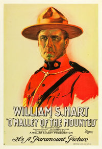 """O'Malley of the Mounted (Paramount, 1921). One Sheet (27"""" X 41"""") Style B"""
