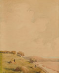 Fine Art - Painting, American:Modern  (1900 1949)  , CHARLES MATHEW CROCKER (American 1877-1950). TITLE, 20thcentury. Watercolor and pencil on paper. 9-1/2 x 7 inches (24.1...