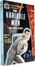 "Books:Signed Editions, Philip K. Dick: Signed The Variable Man (New York: AceBooks, 1957), 255 pages, illustrated wrappers, 16mo (4.25"" x6.75... (Total: 1 Item)"
